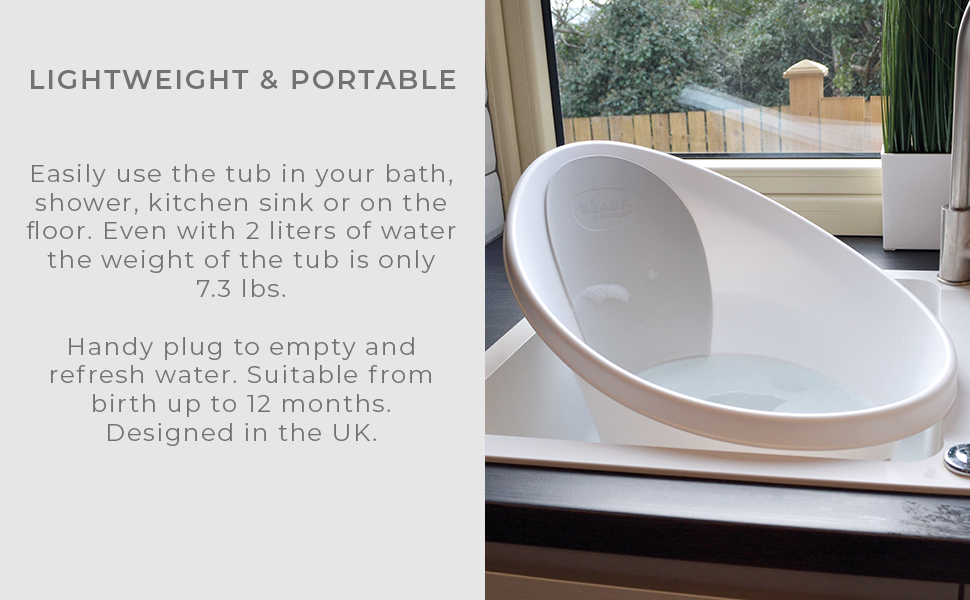 beaba baeba shnuggle bañera de bebé cálido acogedor cómodo cómodo compacto comodidad portátil enjuague bather baño