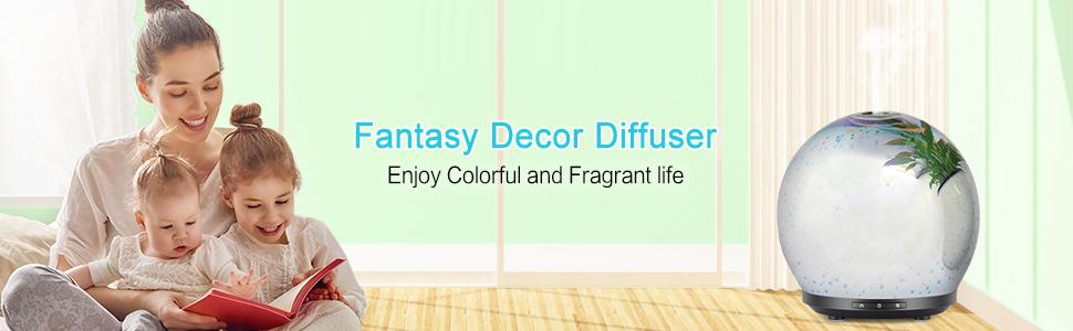 3D firework effect oil diffuser