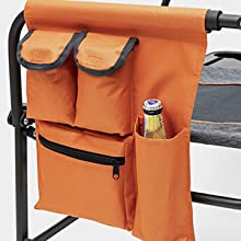 Sunnyfeel, Camping Chair, Oversized, Heavy Duty, Lightweight, Rocking Chair, Director, Cup Holder