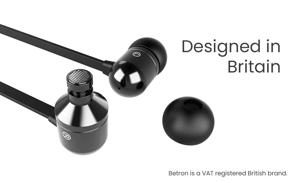 betron noise isolating earphones , earbuds, deep bass, earphone case, earphone for iphone, samsung