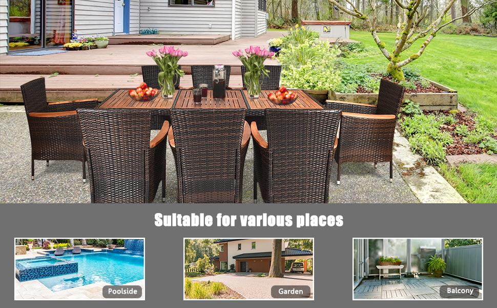 outdoor dining furniture set