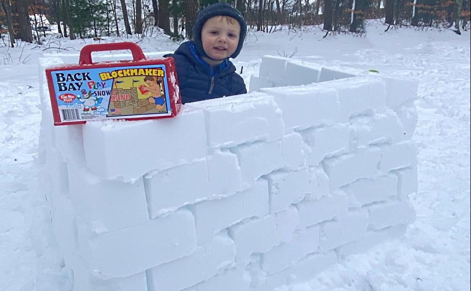 outdoor play blue snowball kids fort