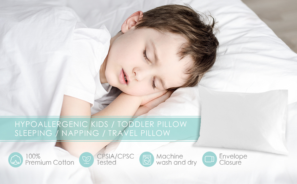 toddler pillow with case