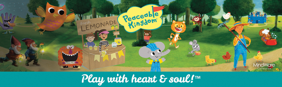 Peaceable Kingdom - Play With Heart and Soul! Banner