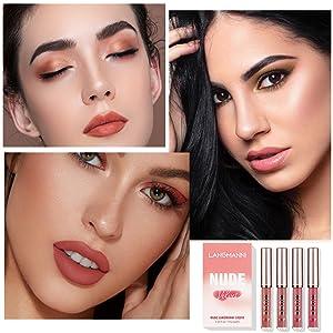 Long Lasting lipstick Waterproof for Women Velvet Lip Gloss Set Velvety Liquid Lipstick