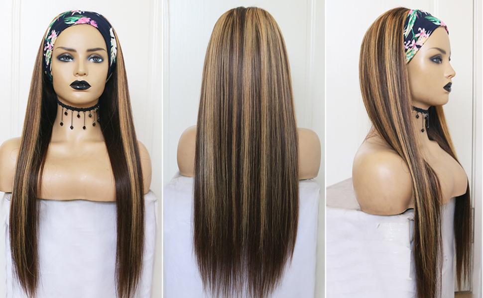 highlight human hair headband wigs
