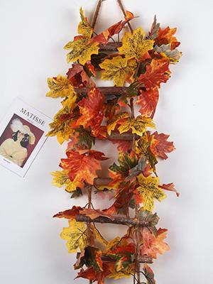 autumn garland leaf garland Artificial Autumn Maple Leaves Garland maple garland