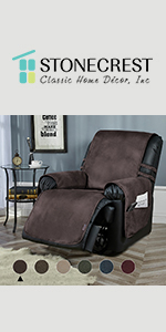 faux leather recliner cover