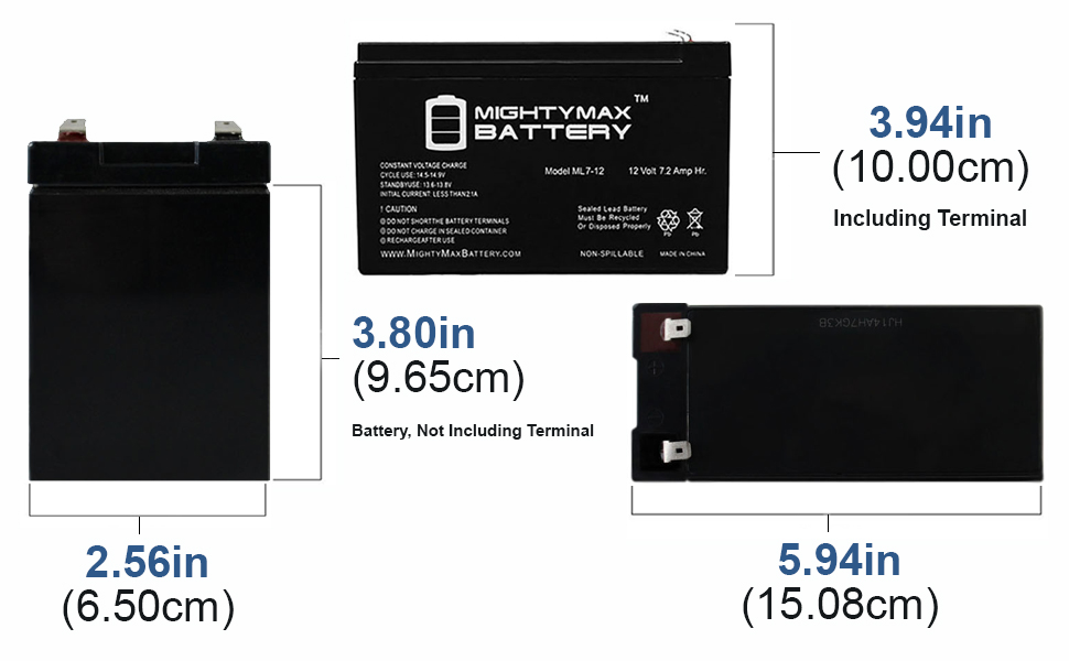 2 Pack Brand Product Mighty Max Battery 12V 7Ah Compatible Battery for UPS APC APC3RA Camera
