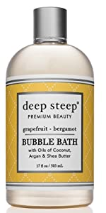 Grapefruit bergamot scented bubble bath deep steep