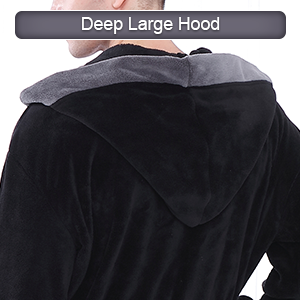 Hooded robe not only helps to keep ears head and neck warm but also can be used as a dry hair cap
