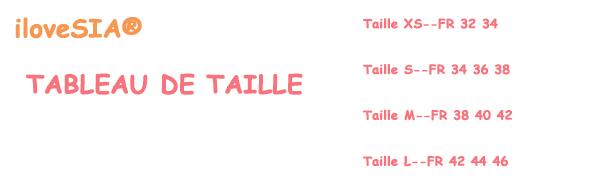 TABLEAU DE TAILLE