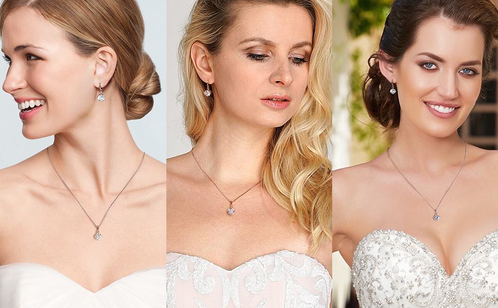 necklace and earrings for women