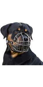 metal dog muzzle rottweiler large durable steel basket