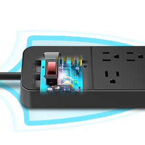 12 Outlets Surge Protector Power Strip
