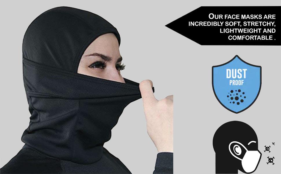 cloth face masks Reusable protection dust neck gaiter bandana