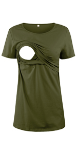 Cotton Short Sleeve Nursing Shirt