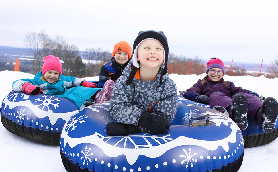 Winter Snow Tube, 47 Inch Inflatable Snow Sled for kids and adult, Sledding Heavy Duty for Sledding
