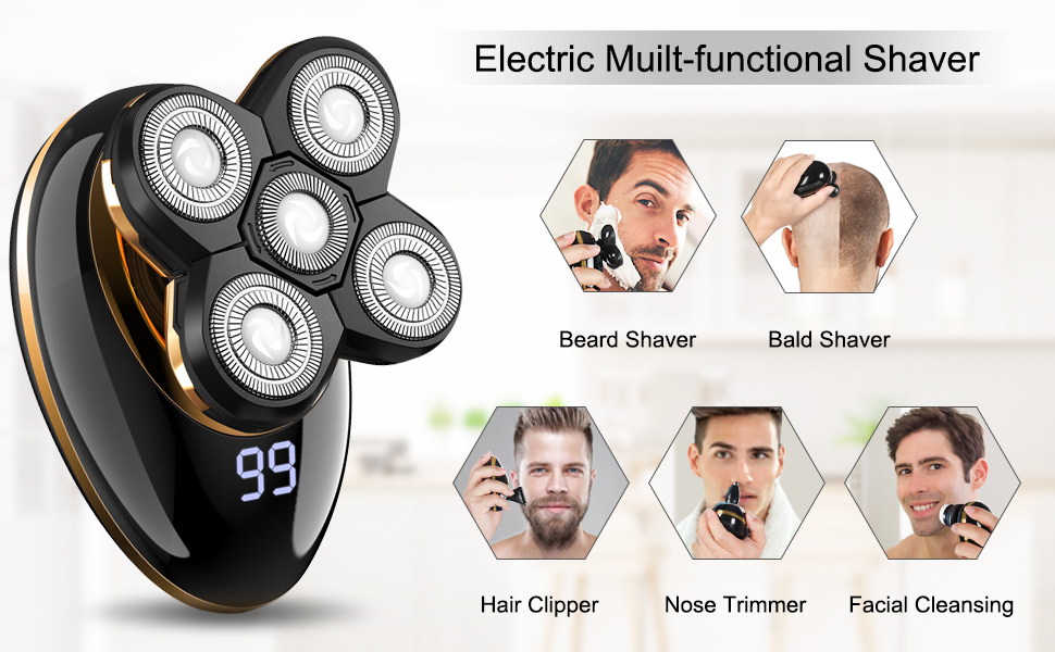 Multi-functional Head Shaver