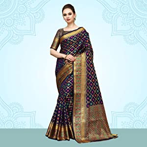 Pure kanjivaram Banarasi Art Silk Saree for women latest design sari ethnic were styles saree womens