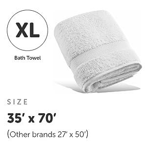 Long-staple Cotton Plush Bath Towel - Bed & Bath