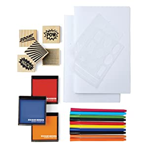 Comic book arts and crafts kit supplies