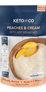 Keto and Co Peaches and Cream Hot Breakfast