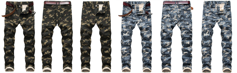 Men's Camo Denim Jeans