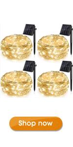 4 Pack Solar Fairy Lights