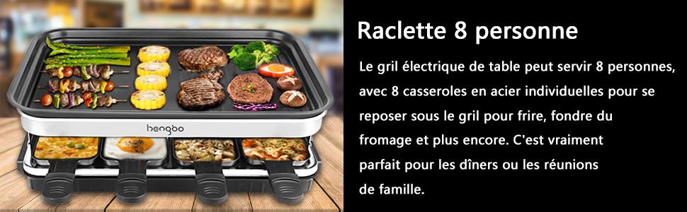 Raclette 8 personne