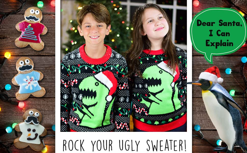 ugly Christmas sweater for youth