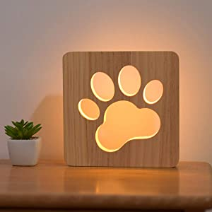 paw wooden light