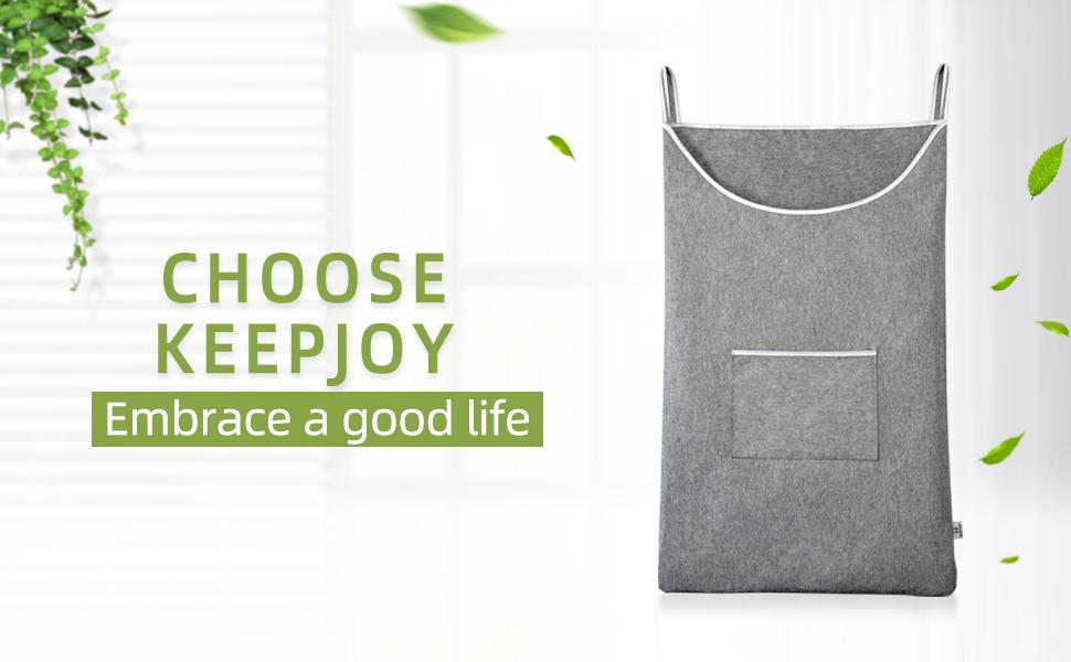 KEEPJOY Door-hanging laundry hamper bag