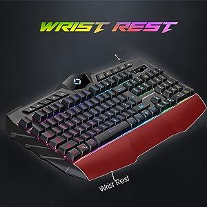 wrist rest keyboard