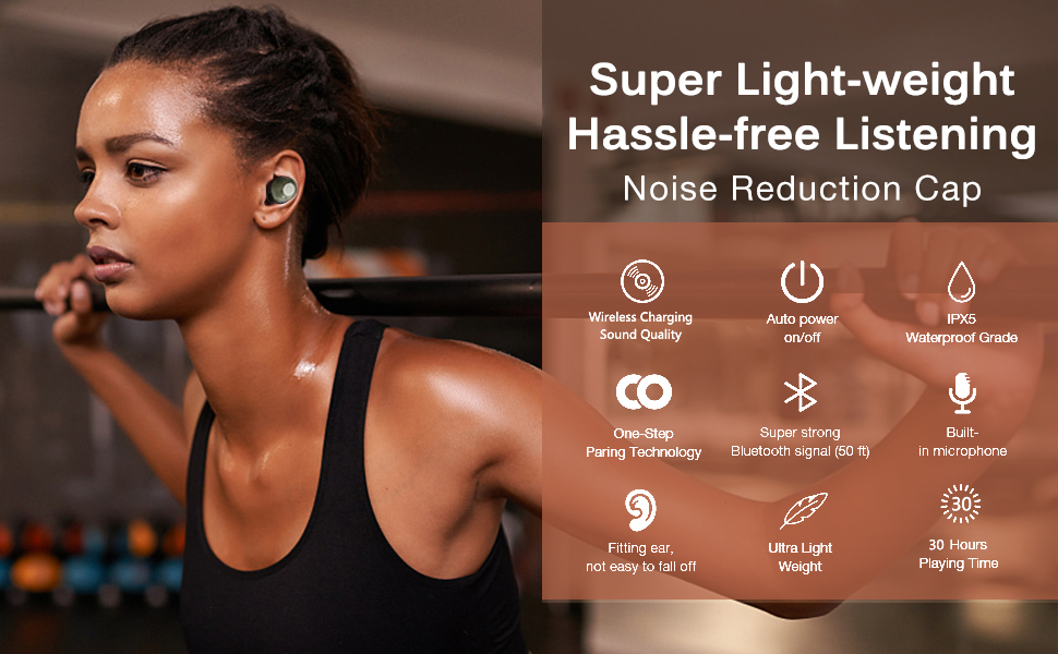 Wireless Earbuds Bluetooth 5.0 Headphones