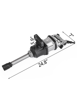 """4280 ft.lbs Air Impact Wrench 1/"""" Drive Pneumatic Wrench Gun 8/"""" Extended Anvil"""