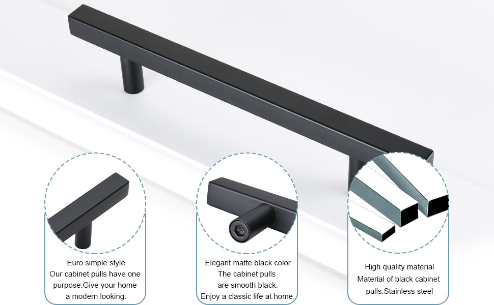modern black drawer handle