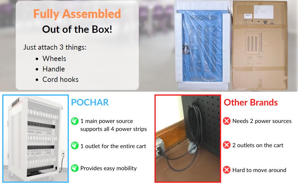 Pochar30UnitMobileChargingCartFullyAssembled