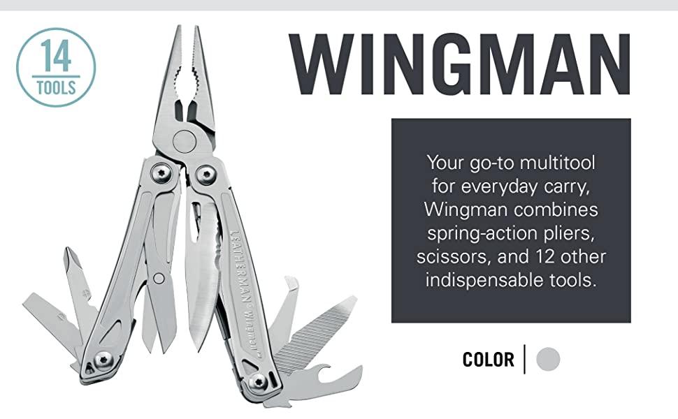 Multitool, Leatherman Wingman, Leatherman, Outdoor Tool