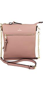 crossbody bag, vegan purse, shoulder purse, chain, simple, chic, brentano