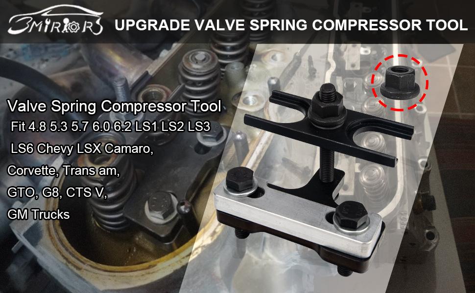 3mirrors 67605 Valve Spring Compressor Tool Fit 4.8 5.3 5.7 6.0 6.2 LS1 LS2 LS3 LS6 Chevy LSX