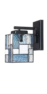 stained glass wall sconce lighting