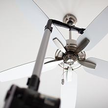 ceiling fan cleaning, spring cleaning, ceiling fan vacuum, portable cordless vacuum, wand vacuum