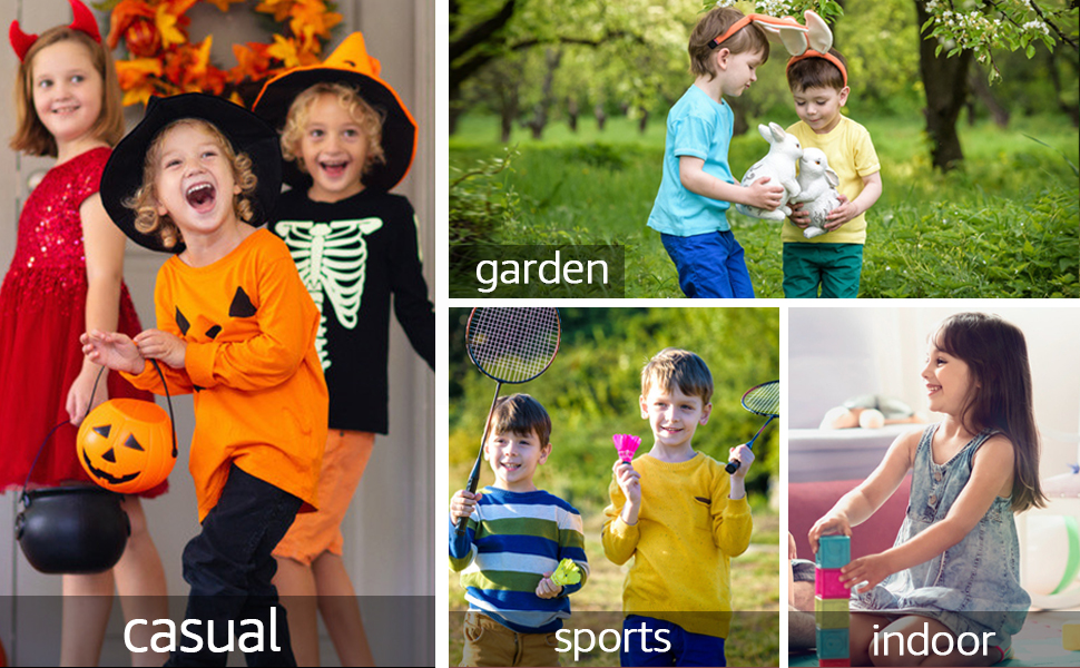 Occasions: party home indoors outdoors garden grass gym school