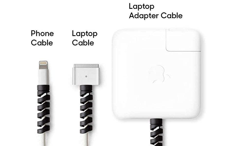 spiral cable protectors protector cables iphone apple wire wrap cord charger charging usb c type