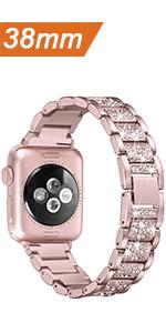 Apple watch band 38mm 40mm women bling