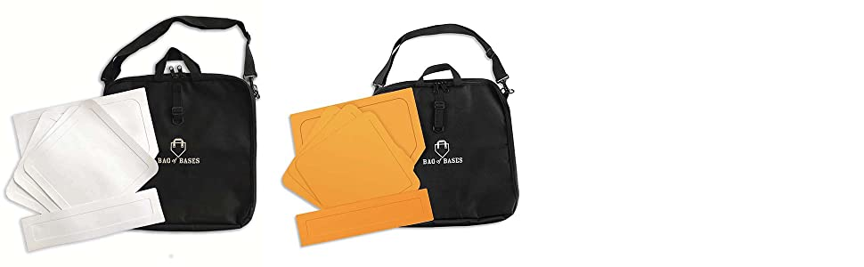 bag of bases - orange and white