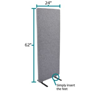 refocus freestanding room office divider privacy acoustic panel