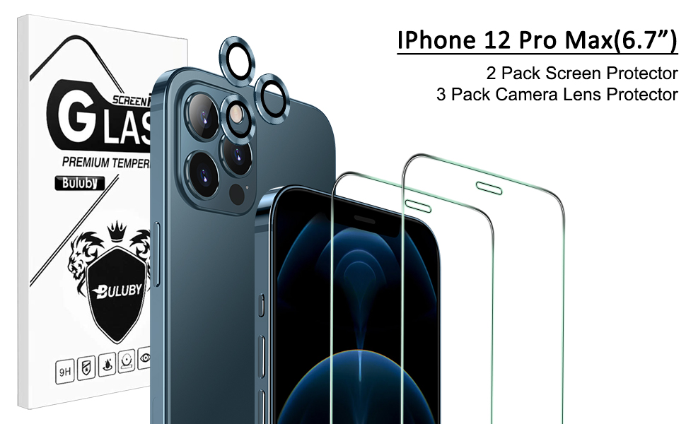 iPhone 12 pro max camera lens protector and iPhone 12 pro max screen protector