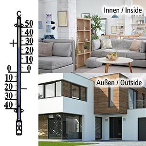Termómetro interior y exterior, para ventana, jardín
